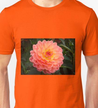 Pretty Peach Dahlia Unisex T-Shirt