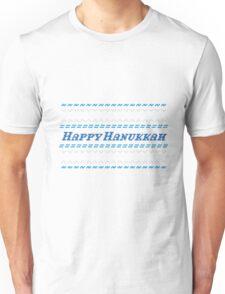 Happy Hanukkah Chanukah Hanukah Ugly Sweater T shirt Unisex T-Shirt