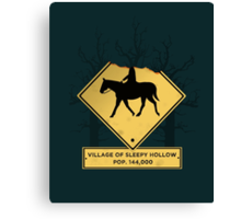Headless Horseman Sign Canvas Print