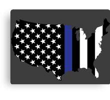Thin Blue Line - America Canvas Print