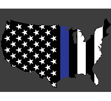 Thin Blue Line - America Photographic Print