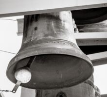Church Bells - Black & White Sticker