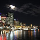 Full Moon over Brisbane, by Night. by SunnieGal