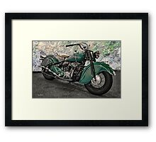 1947 Indian 'Chief' Motorcycle Framed Print