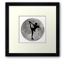 Figure Skate Moon Framed Print