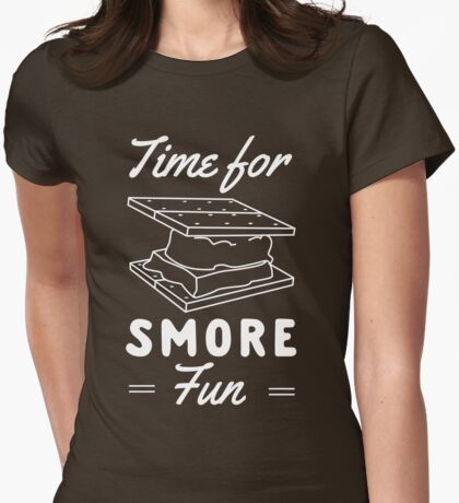 Time for smore fun Womens Fitted T-Shirt