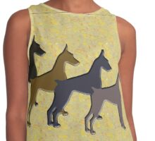 Colors of Beauty,, the Doberman! Contrast Tank