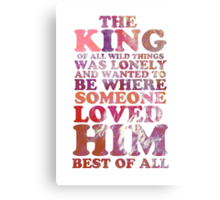 Where The Wild Things Are Quote 1 Canvas Print