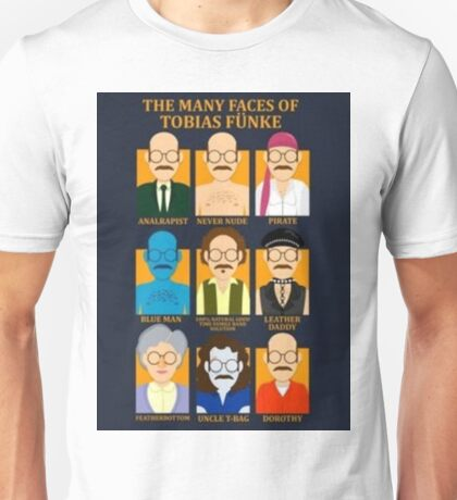 Many Faces of Tobias Unisex T-Shirt