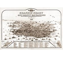 San Francisco - Graphic Chart - 1875 Photographic Print