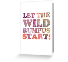 Where The Wild Things Are Quote 2 Greeting Card