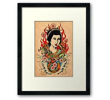 Dragon Geisha Framed Print