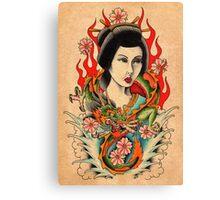 Dragon Geisha Canvas Print
