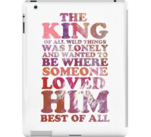 Where The Wild Things Are Quote 1 iPad Case/Skin