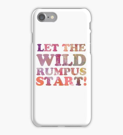 Where The Wild Things Are Quote 2 iPhone Case/Skin