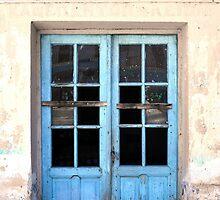 Half blue door by IOANNA PAPANIKOLAOU