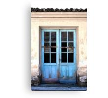 Half blue door Canvas Print