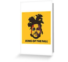 The Weeknd King Of The Fall Greeting Card