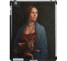 Lady with a dog iPad Case/Skin