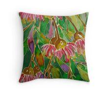 Bush Dreaming - silk painting Throw Pillow