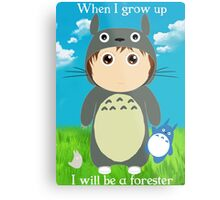 When I grow up, I will be a forester (girl) Metal Print