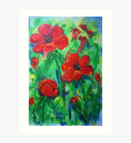 Wild about poppies  Art Print