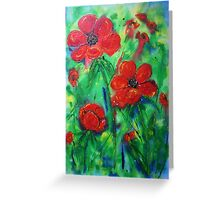 Wild about poppies  Greeting Card
