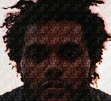 The Weeknd Abel Tesfaye Mosaic by Wirlyquirly