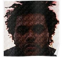 The Weeknd Abel Tesfaye Mosaic Poster