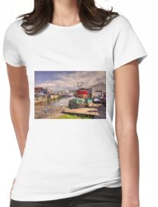 Mallaig Harbour Womens Fitted T-Shirt