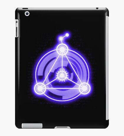 Connection Symbol - Digital Crop Circle - Purple iPad Case/Skin