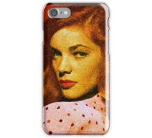 Lauren Bacall - 036 iPhone Case/Skin