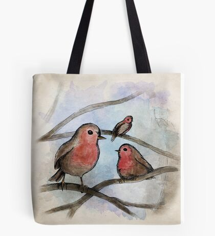 Red Breast Tote Bag