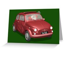 Santa Claus Driving Fiat 500 Greeting Card