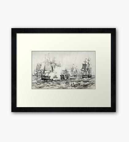Battle of Lake Erie Framed Print