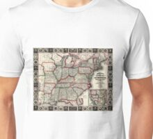 United States - Phelps's National map - 1852 Unisex T-Shirt