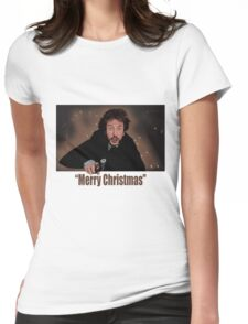 """Merry Christmas love from Hans"" Womens Fitted T-Shirt"