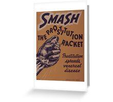 Vintage poster - Smash the prostitution racket Greeting Card