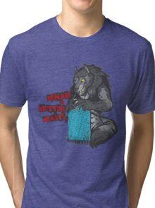 Beware of Knitting Beasts - light fabric Tri-blend T-Shirt