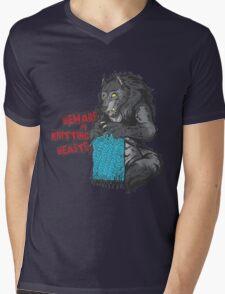 Beware of Knitting Beasts - light fabric Mens V-Neck T-Shirt