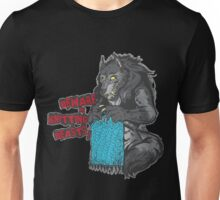 Beware of Knitting Beasts - dark fabric Unisex T-Shirt