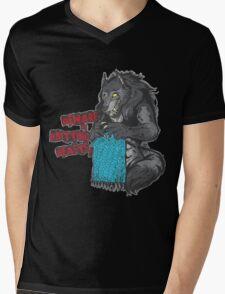 Beware of Knitting Beasts - dark fabric Mens V-Neck T-Shirt