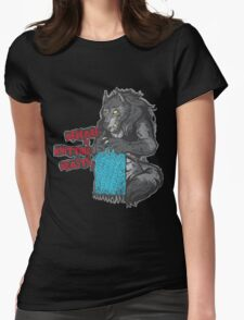 Beware of Knitting Beasts - dark fabric Womens Fitted T-Shirt