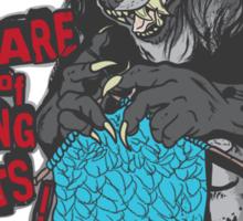 Beware of Knitting Beasts - dark fabric Sticker