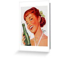 Vintage poster - Soda Ad Greeting Card