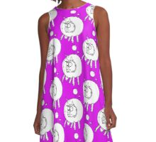 Bovine Transportation! Cows par avion ... A-Line Dress