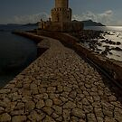 Methoni Bourtzi Night by James Grant