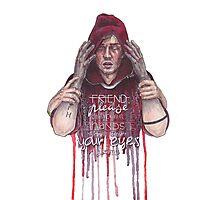 Tyler (feat. Josh's hands): Friend, Please Photographic Print