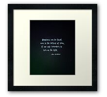 Harry Potter, Dumbledore quote Framed Print