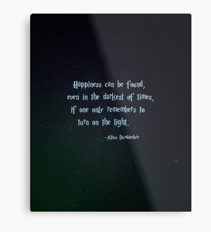Harry Potter, Dumbledore quote Metal Print